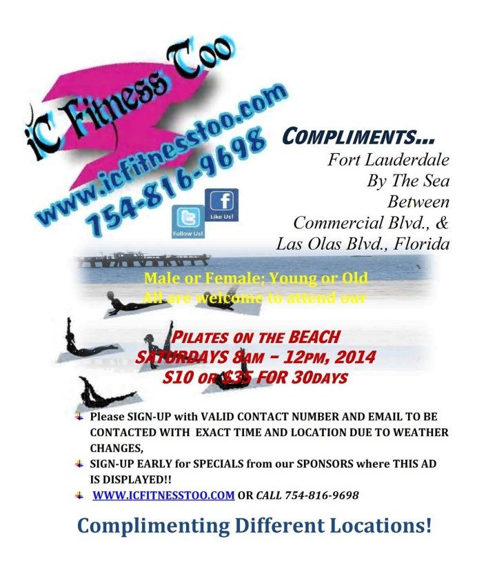 IC Fitness Too Compliments Ft Lauderdale Beach