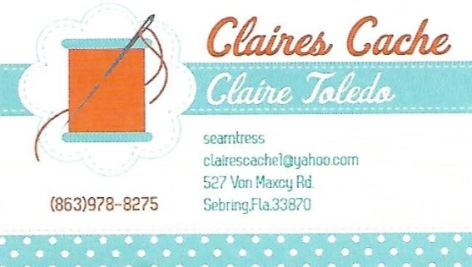 Claires Cache Seamtress