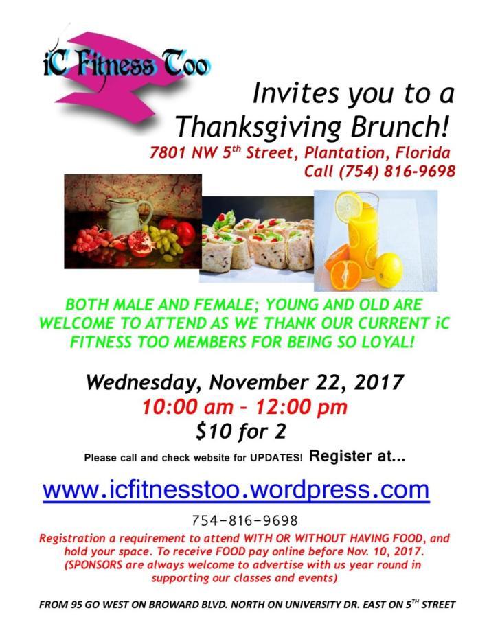 Thanksgiving Brunch Nov 22 2017